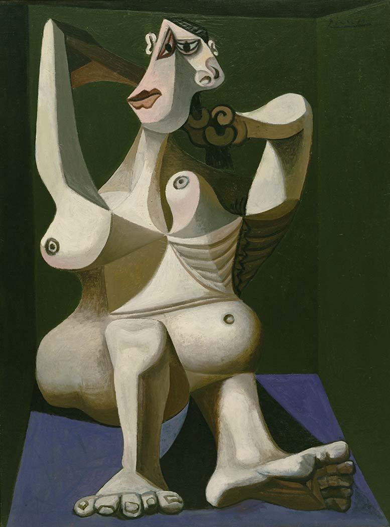 Pablo Picasso Saçlarını Tarayan Kadın