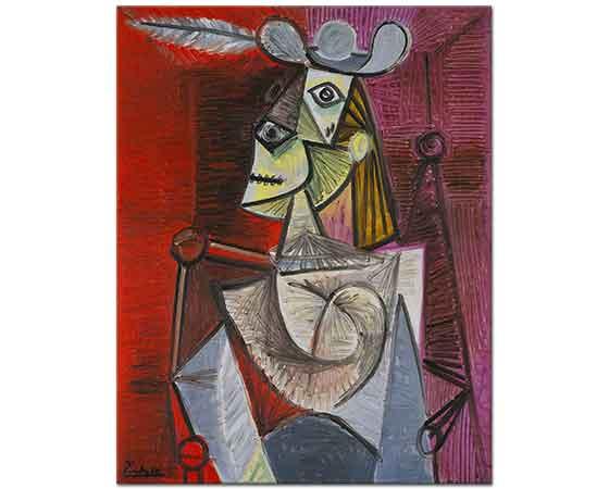 Pablo Picasso Sandalyedeki Kadın