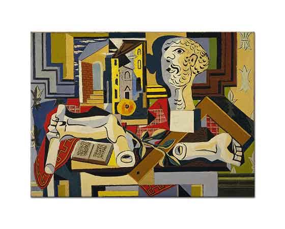 Pablo Picasso Stüdyoda Alçıdan Büst