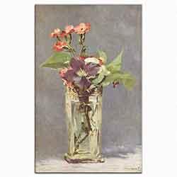 Kristal Vazoda çiçekler