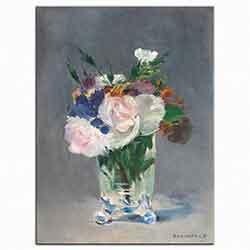 Kristal Vazodaki çiçekler