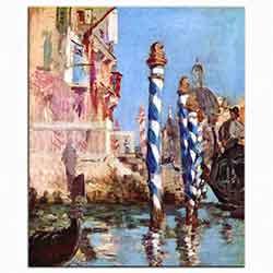 Venedik'te Grand Kanal
