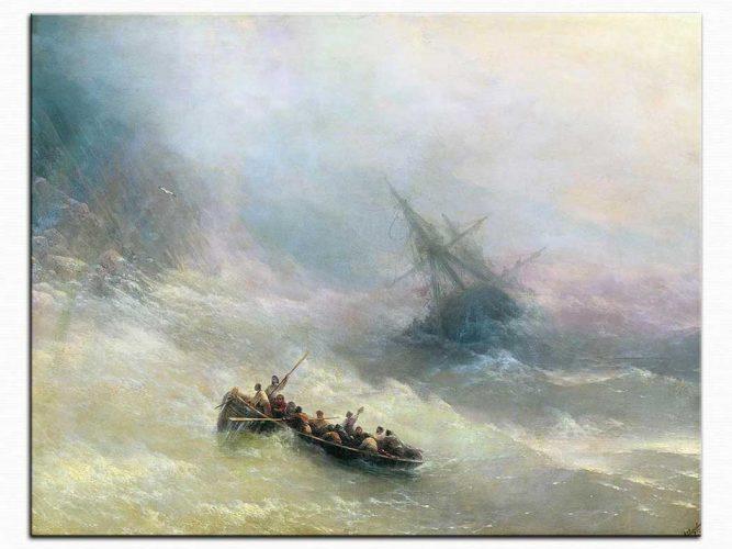 Ivan Konstantinovich Aivazovsky Kurtarma Sandalında