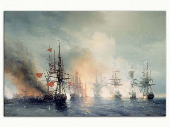 Ivan Konstantinovich Aivazovsky Sinop Savaşında Gemiler