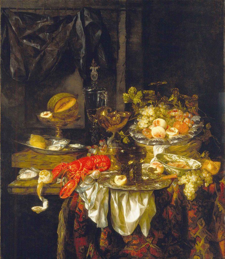 Abraham Hendrick van Beijeren istakozlu natürmort