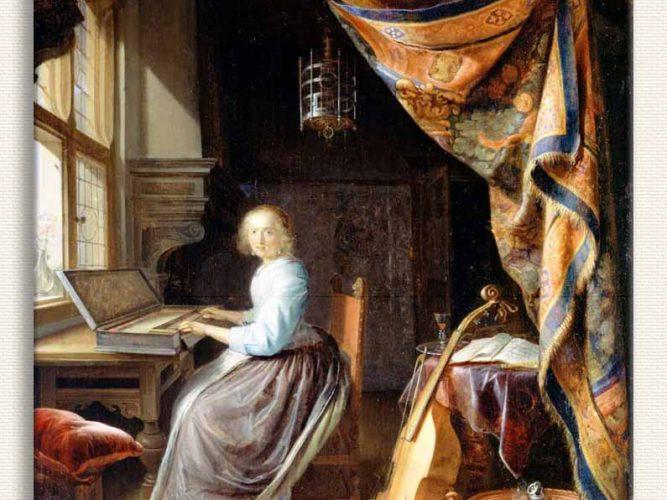 Gerrit Dou Klavsen Çalan Kadın