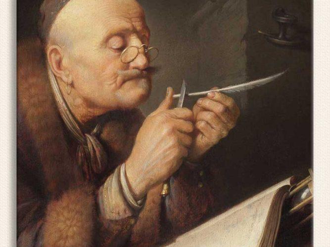 Gerrit Dou Kamış Açarken tablosu