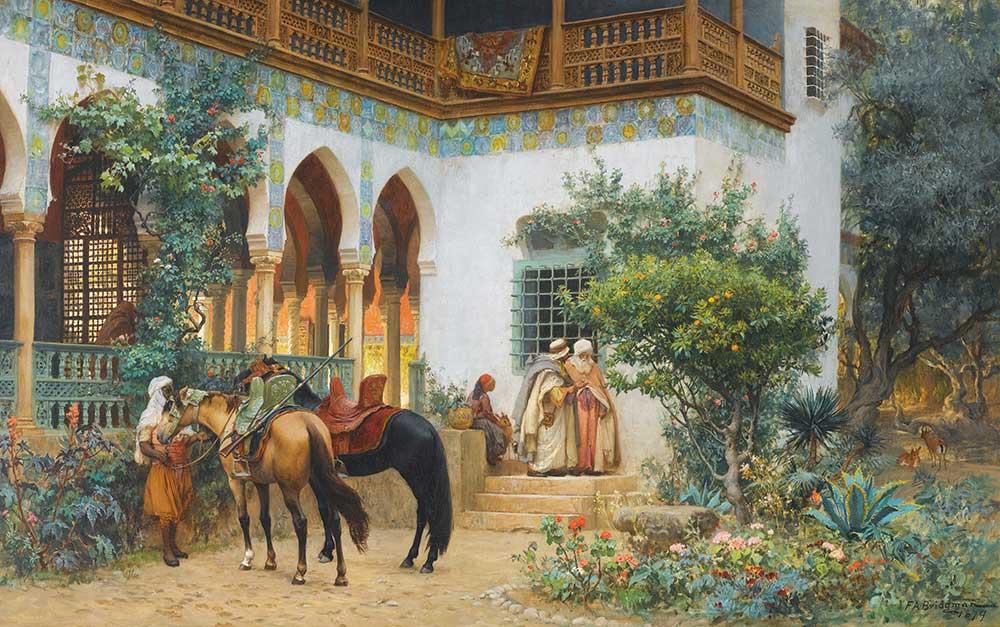 Frederick Arthur Bridgman Kuzey Afrika'da Ev Avlusu