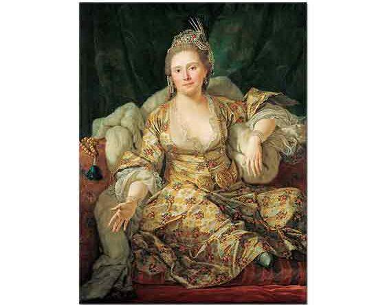 Antoine de Favray Kontes Vergennes Türk Kıyafetleriyle