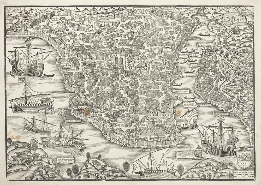 Giovanni Andrea Vavassore Istanbul Haritası