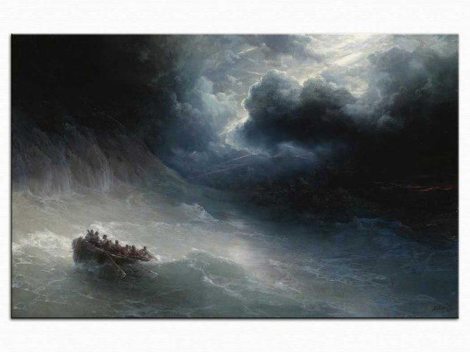 Ivan Konstantinovich Aivazovsky Kasırgada Kazazedeler