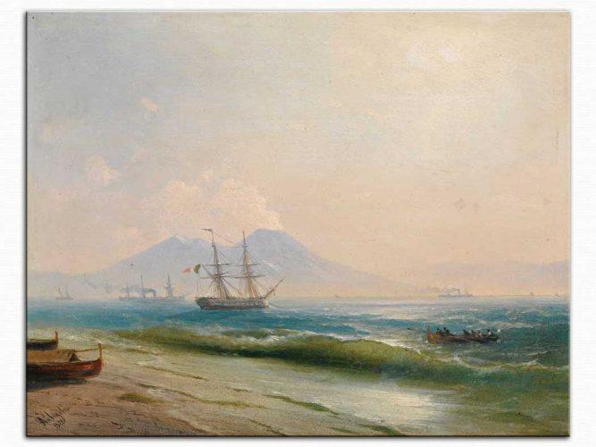 Ivan Konstantinovich Aivazovsky Napoli Sahilinde