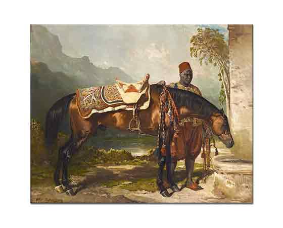 Alfred de Dreux Abdülkadir'in Binek Hayvanları