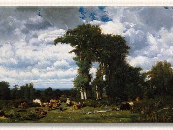 Jules Dupre Sığırlar ile Manzara