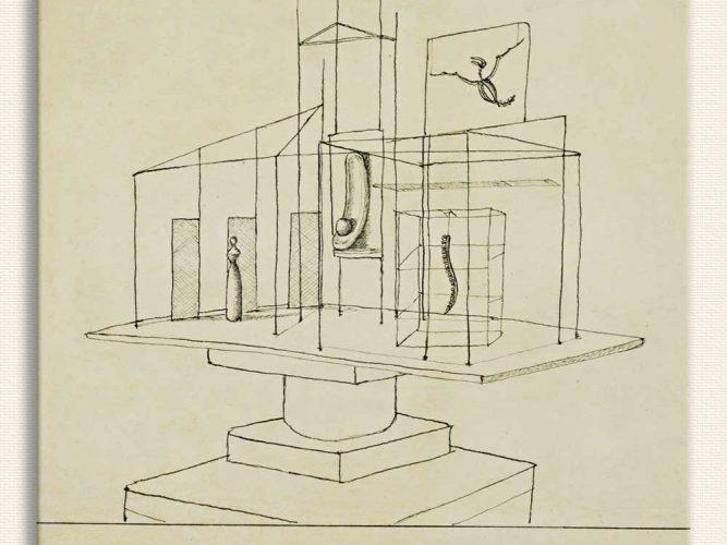 Alberto Giacometti Saray için Etüd