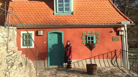 Egon Schiele izinde Cesky Krumlov (Krumau)