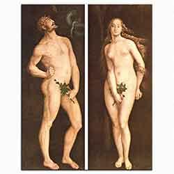 Hans Baldung Grien, Adem ile Havva, 1525