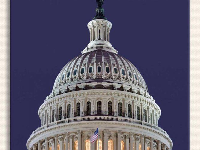 Amerikan Kongre Binası Kubbesi Washington DC