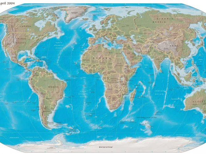 Dünya Coğrafi Haritası 2004 tarihli