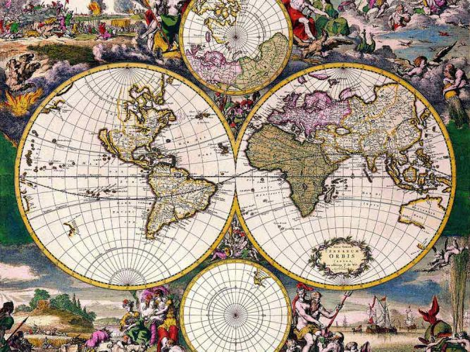 Dünya Haritası tarihi 16 ve 17. yüzyıllar