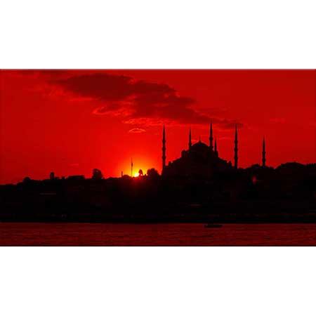Sabahattin Kayış Gün Batımında İstanbul