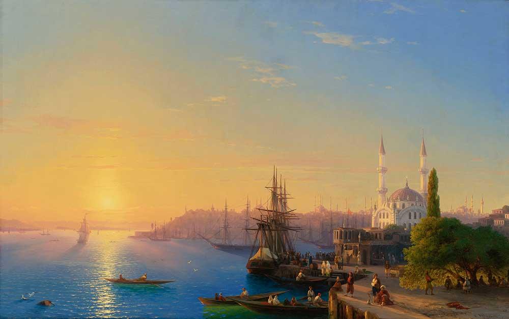 Günbatımında Ortaköyden Istanbul