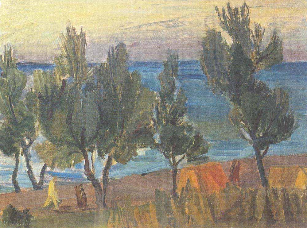Ali Avni Çelebi Kıyıda Ağaçlar
