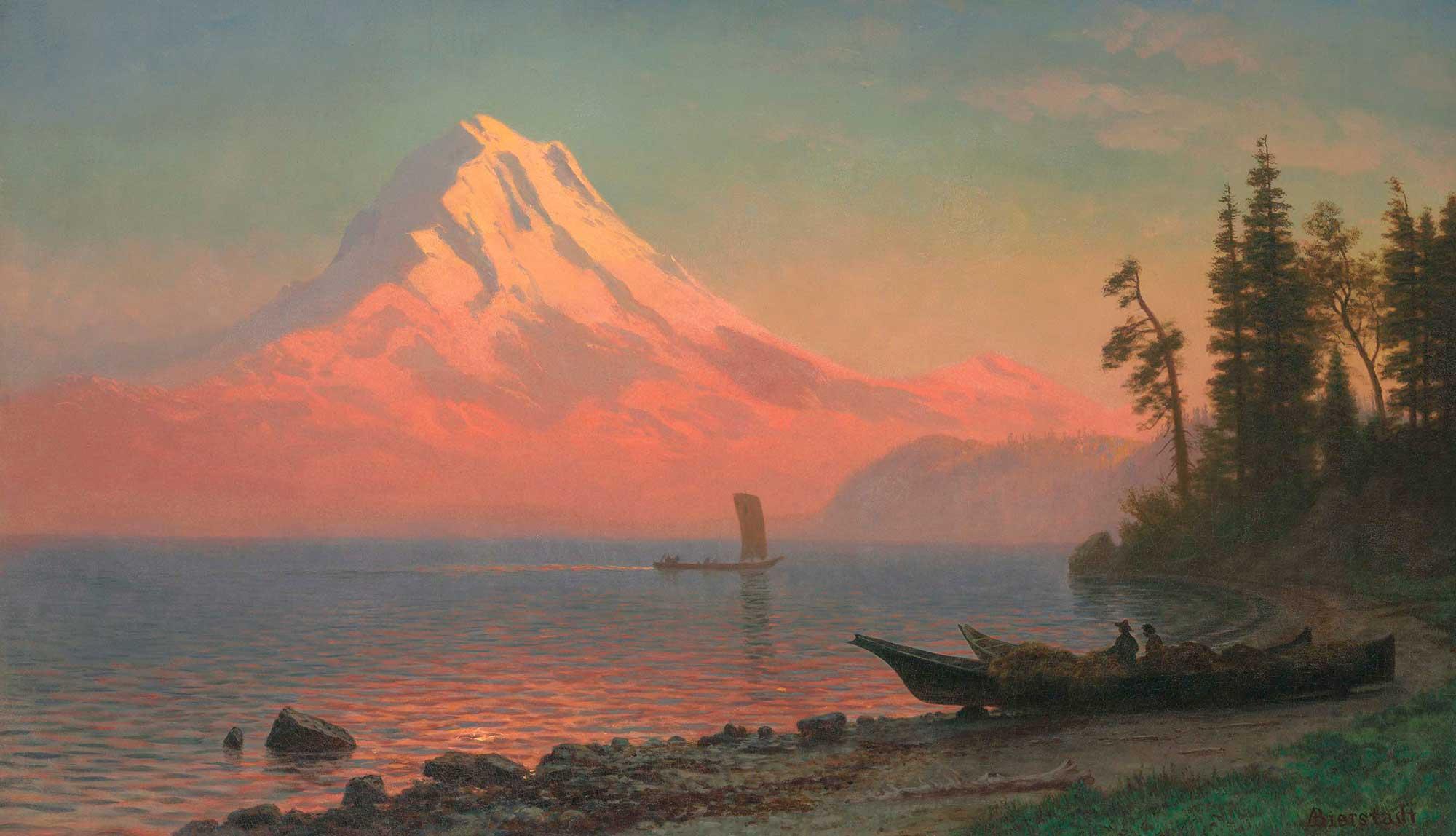 Albert Bierstadt Hood Dağı Oregon Manzarası