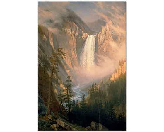 Albert Bierstadt Yellowstone Şelalesi Manzarası
