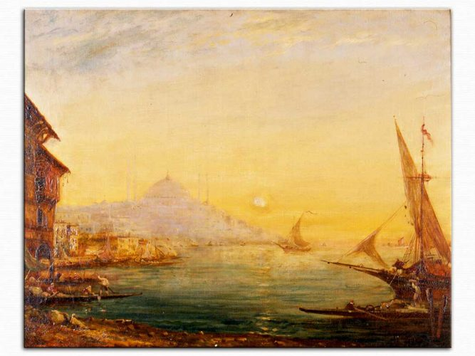 Alfred August Felix Bachmann Istanbul Peyzajı