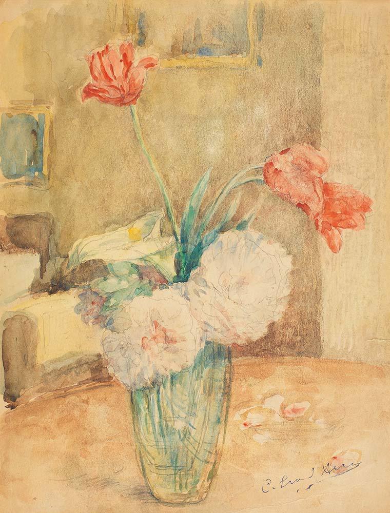 Celal Esad Arseven Vazoda Çiçekler