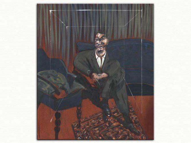 Francis Bacon oturan portre etüdü
