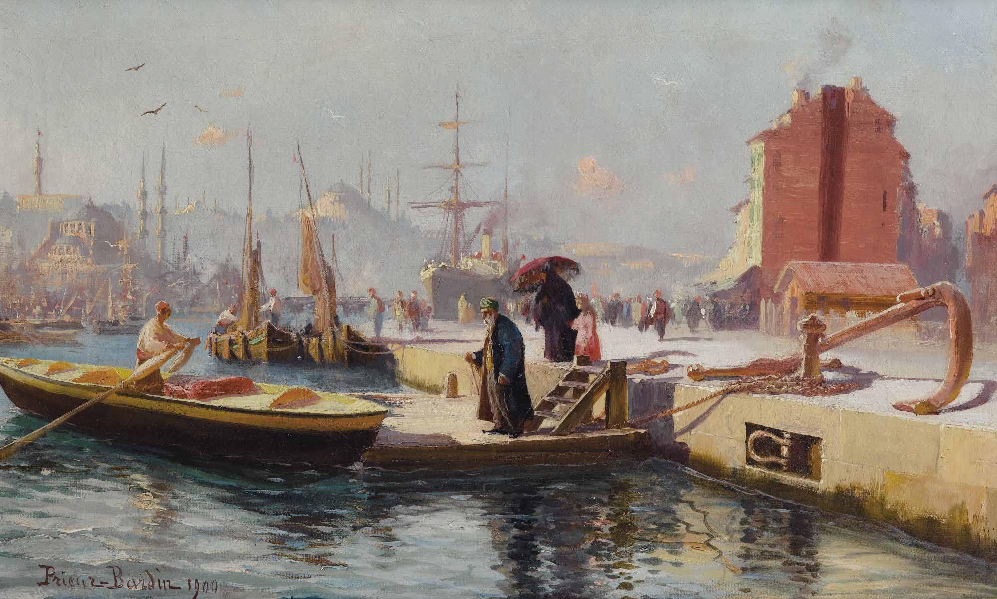 François Leon Prieur Bardin Karaköy Rıhtımında