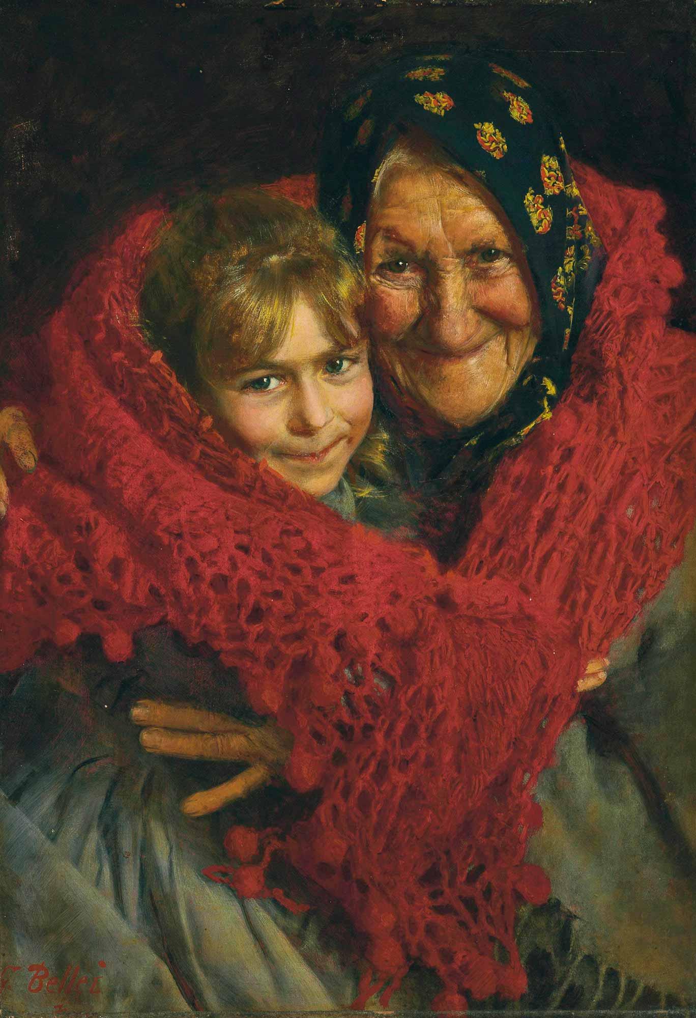 Gaetano Bellei Anneanne ve Torunu