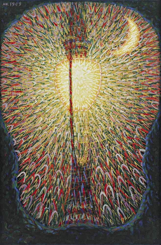 Giacomo Balla şehir ışıkları
