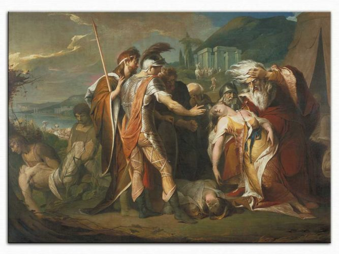 James Barry Cordelia'nın ölümüne ağlayan Kral Lear