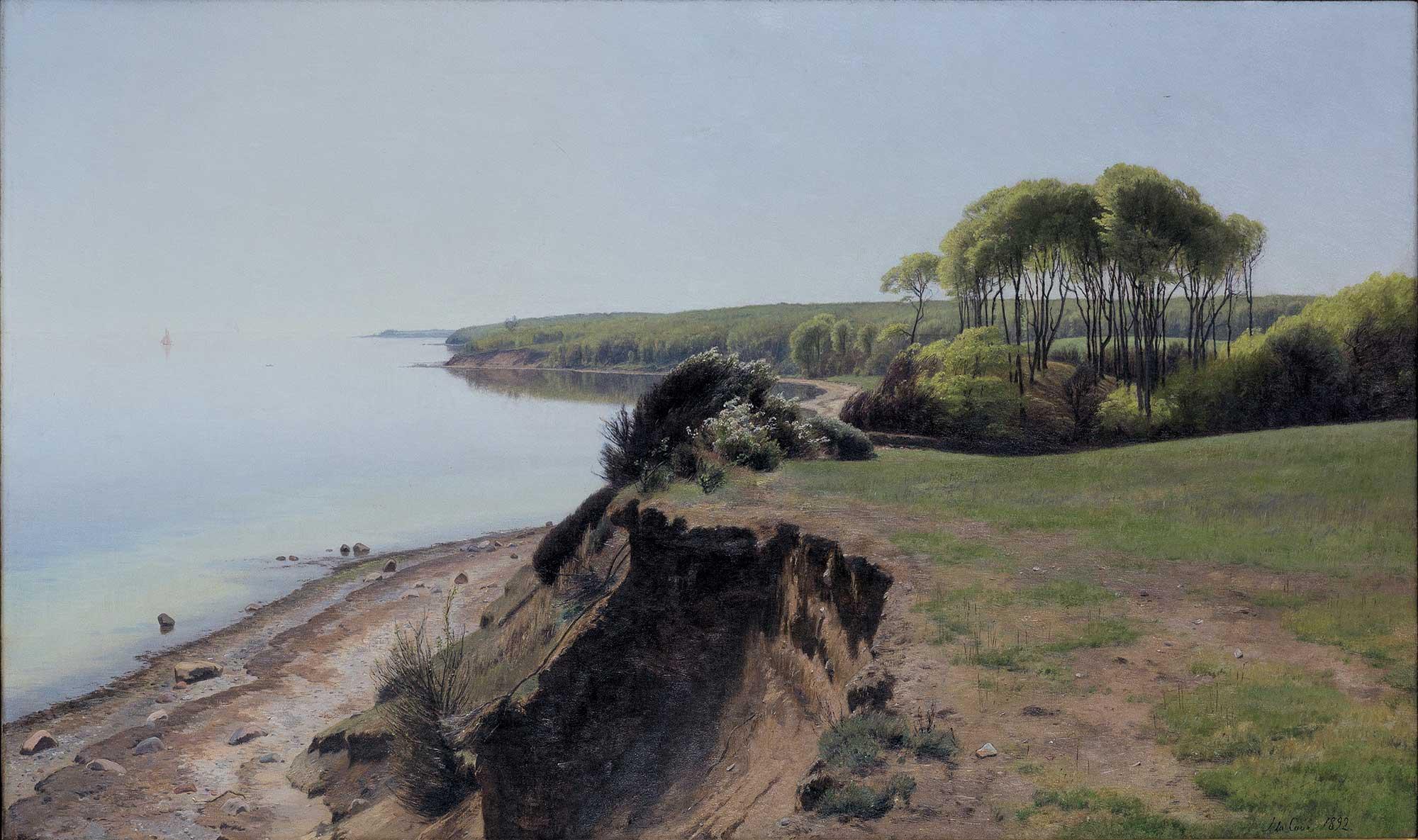 Janus Andreas Bartholin La Cour Moesgard Yakınlarında Ağaçlar