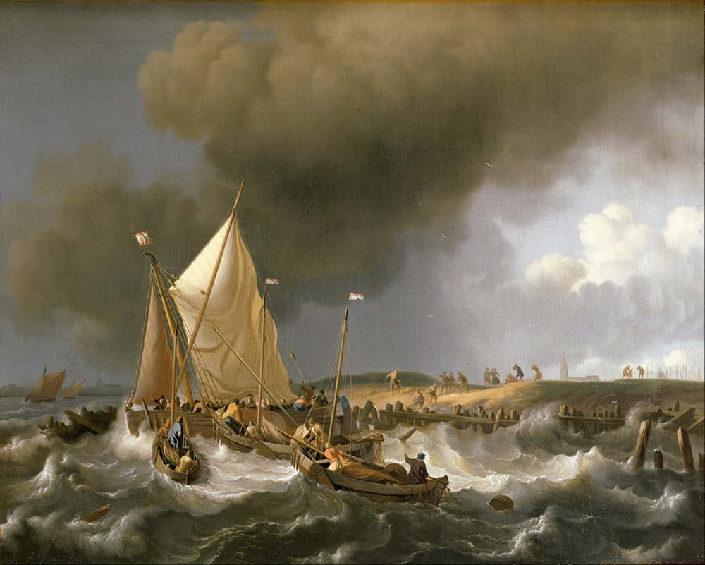 Ludolf Backhuysen Fırtınada Kurtarma Tekneleri