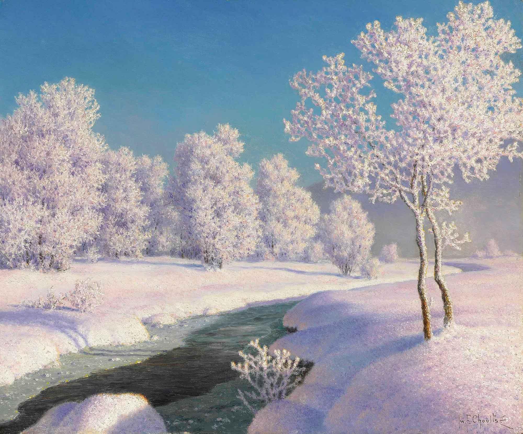 Ivan Fedorovich Choultse Engadin'de Kış Sabahı