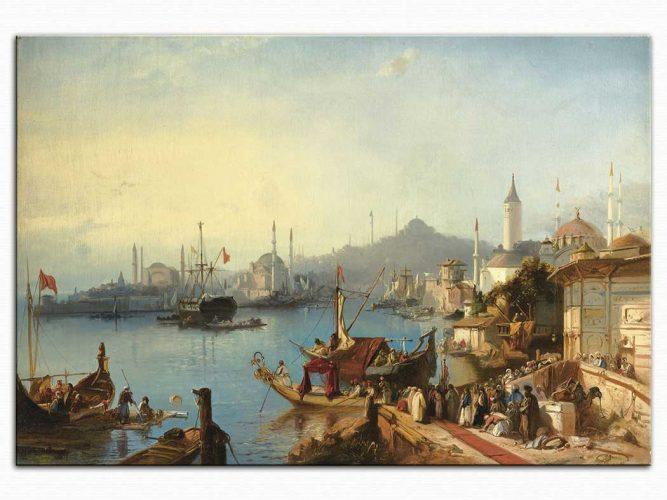 Jacob Jacobs Sultan Abdülmecit'in Nusretiye Cami'ine varışı