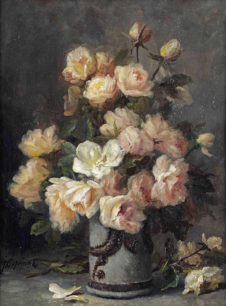 Jean Capeinick beyaz ve pembe güller