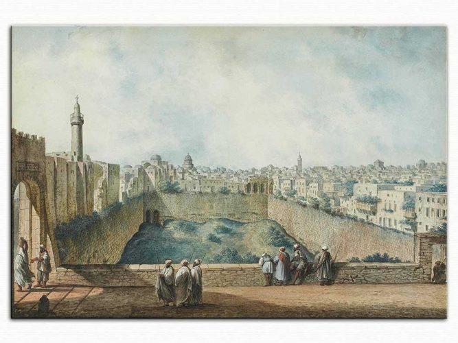 Luigi Mayer Süleyman Tapınağından Görünüm Kudüs