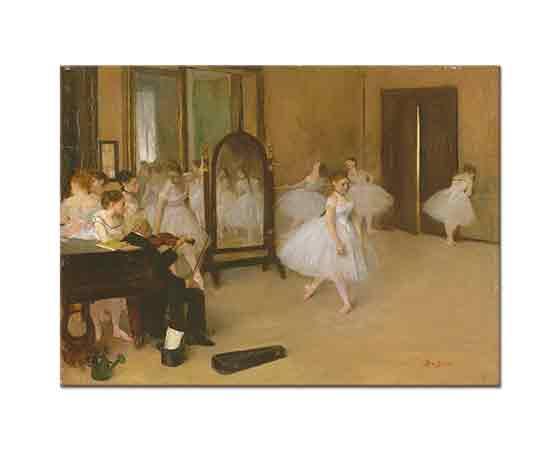 Edgar Degas Bale Sınıfındaki Prova
