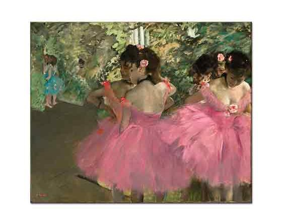 Edgar Degas Pembe Elbiseli Balerinler