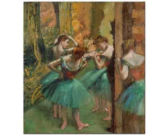 Edgar Degas Pembe ve Yeşil Elbiseli Balerinler