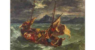 Eugene Delacroix Isa Galilee Denizinde