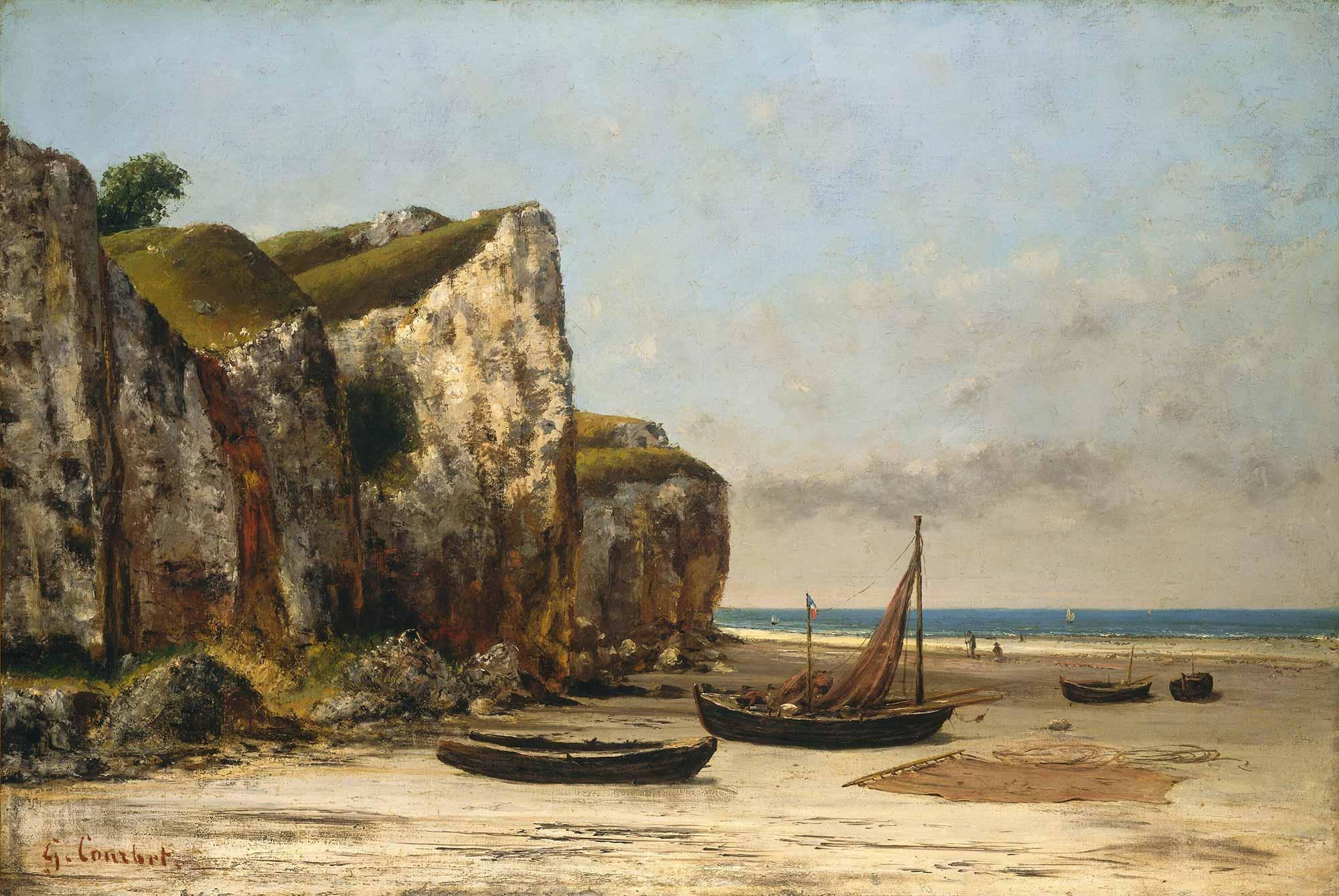 Gustave Courbet Normandiya Plajı
