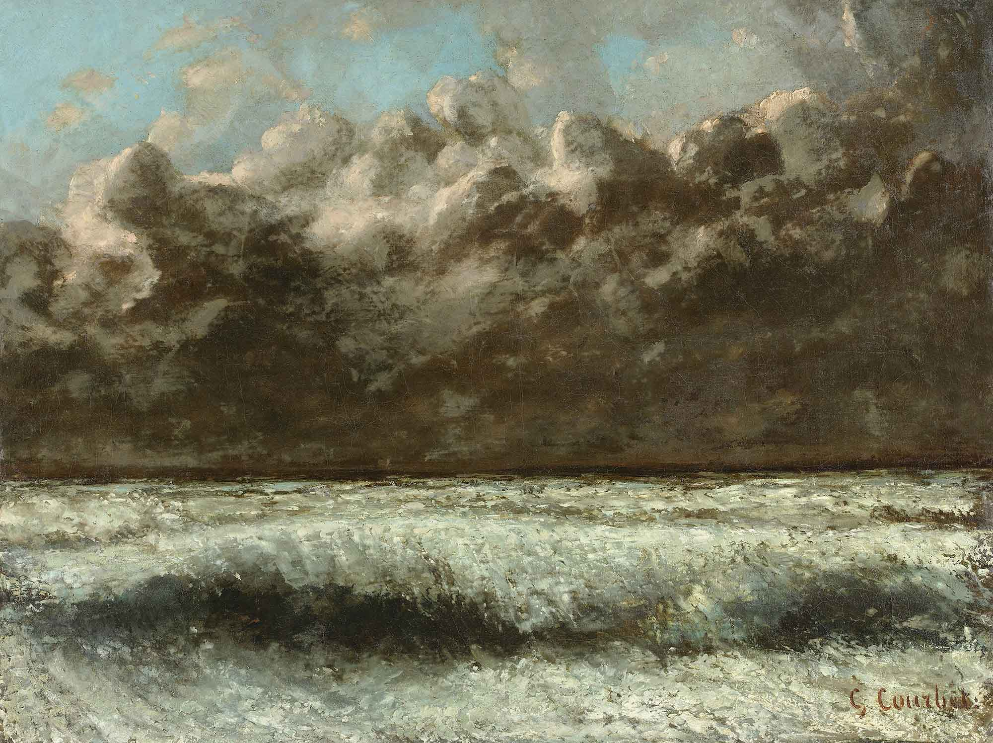 Gustave Courbet Normandiya Sahili