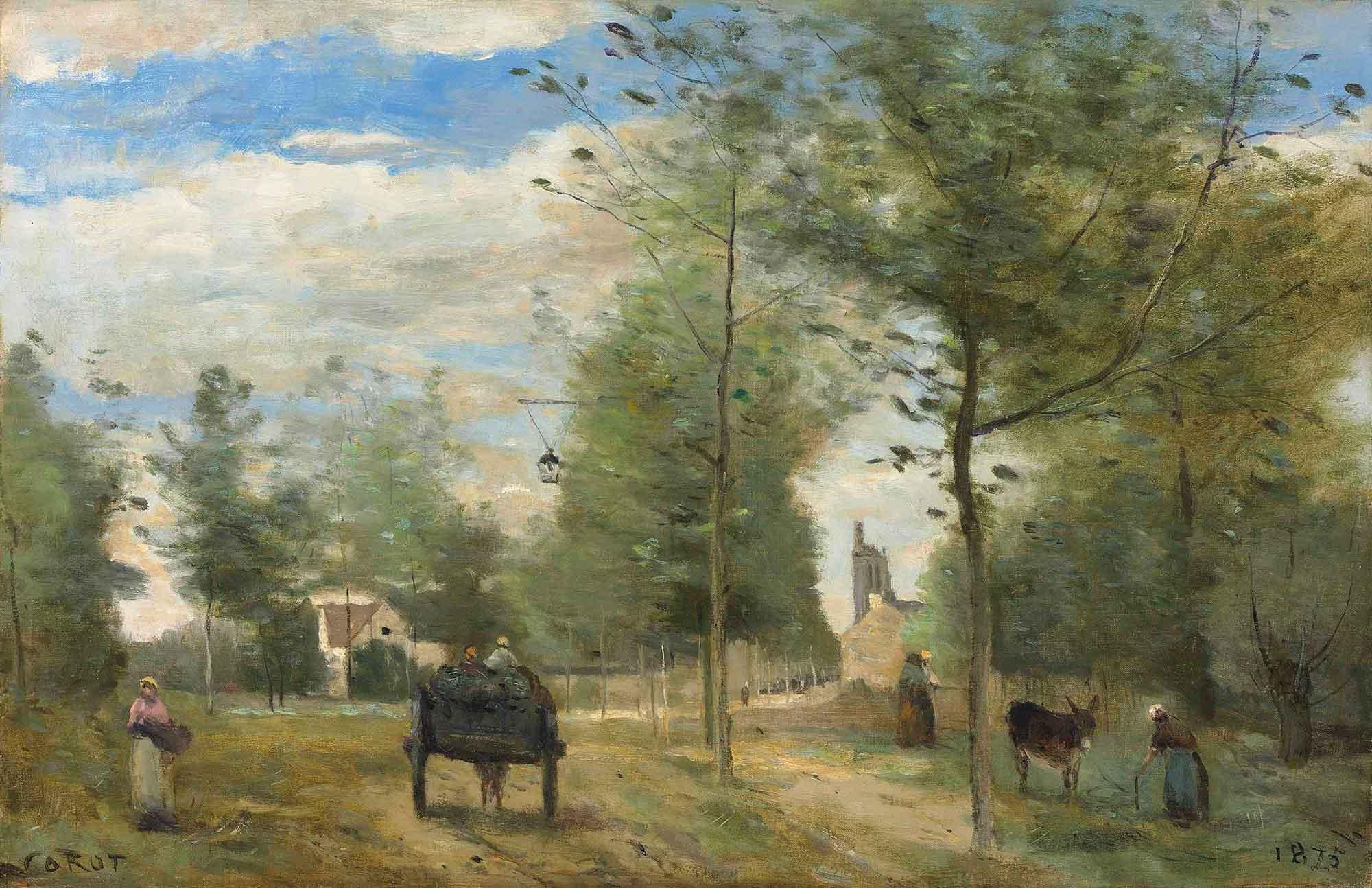 Jean Baptiste Camille Corot Köy Yolunda Brie Civarı