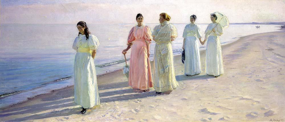 Michael Peter Ancher Sahilde Yürüyüş